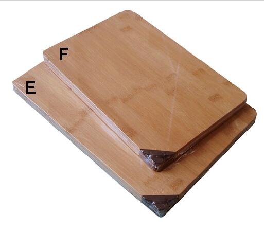 bamboo chopping board with knife sharpener
