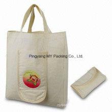 Washable Reusable Natural Pure Cotton Bag Foldable