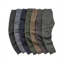 Multicolored Multi Pockets Washed Jogger Cargo Pants