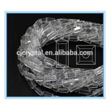 Vidro branco retângulo grânulos contas de vidro fazendo máquina