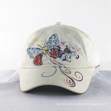 Butterfly Embroidery with Shining Thread Girls Kids Caps