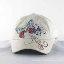 Вышивка бабочки с блестящими нитками для девочек