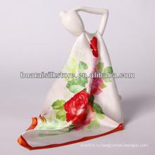 """34 """"x34"""" оптовый красный цветок шарф шелковый фуляр"""