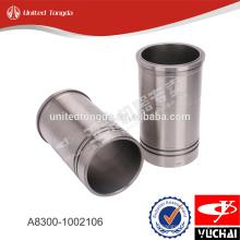 Revestimiento del cilindro del motor YC4A A8300-1002106 para yuchai