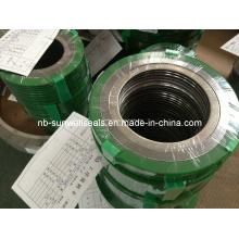Junta de espiral com revestimento epóxi verde