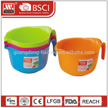 Com salada de alimentos seguros de máquina de lavar louça de certificação SGS & UE recipiente tigelas de plástico com alça