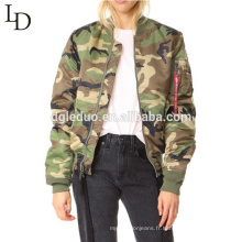 Dongguan Fabricant Pas Cher Prix haute qualité camouflage couleur Femmes veste