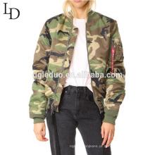 Dongguan fabricante preço barato alta qualidade camuflagem cor mulheres jaqueta