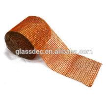 24 filas de diamantes de malla de rodillo de cinta de strass para la decoración de la boda