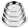 Stainless Steel Dumpling Steamer Dinner Plate with Strainer /Restaurant Tray Serving
