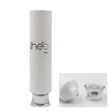 50mm diameter white gloss coating shampoo tube packaging with cap