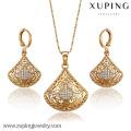 62929-Xuping, joyería fina, mujer, joyería, conjunto, con, 18K, chapado en oro