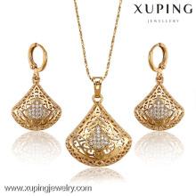 62929-Xuping jóias finas conjunto de jóias de mulher com ouro 18k chapeado