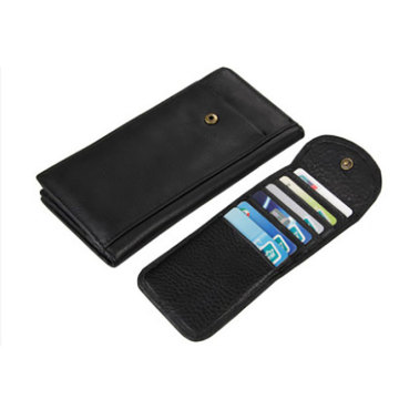 Porte-cartes en cuir intelligent Etui portefeuille Rfid Blocking