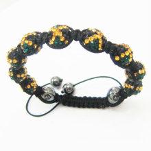 Großhandelshandgemachte Jamaika-Land-Markierungs-Armbänder Shamballa Kristallkugeln BR10