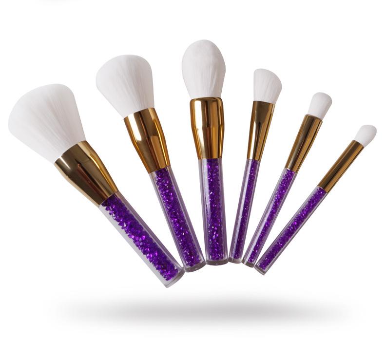 crystal handle makeup brushes