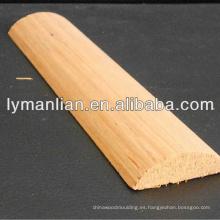 Molduras redondas de madera de teca china 1/2