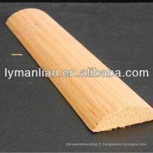 Chine 1/2 rond en bois de teck moulage