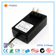 Montage mural 12V 2.5A Neon Power Supply UL1310 Classe 2