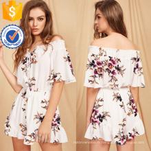 Barboteuse imprimé floral multicolore Front Romper OEM / ODM Fabrication en gros de vêtements de mode femmes (TA7013J)