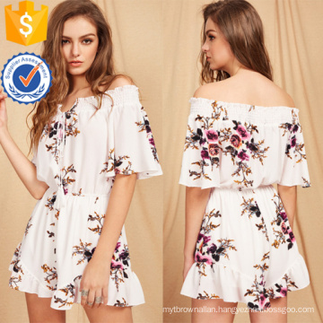 Multicolor Floral Print Tie Front Romper OEM/ODM Manufacture Wholesale Fashion Women Apparel (TA7013J)