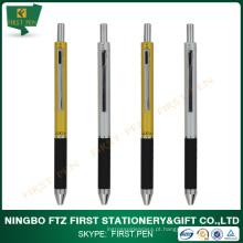 Chifre cromado em cetim 4 em 1 caneta