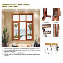 Fenêtres en bois de Feelingtop en aluminium avec le boîtier de matériel (FT-WW90)