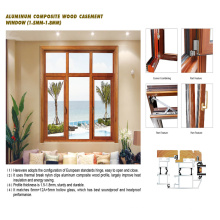 Feelingtop Aluminum Wooden Windows with Hardware Casing (FT-WW90)