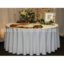 White Tablecloth/Hotel table cover/Banquet Table linen
