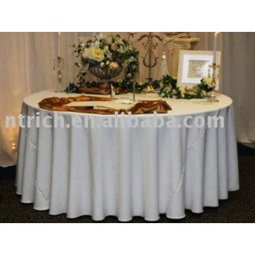 Hotel/toalha de mesa branca tabela tampa/banquete, toalhas de mesa