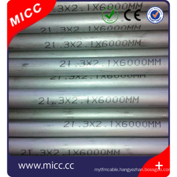 one end closed AISI 304/316/310/INCL600/446 AISI 316 stainless steel seamless tubes for thermocouple sensor