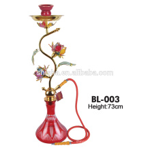 nouvelle conception élégante fleur décoration chicha narguilé deluxe amy