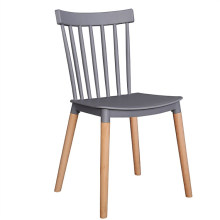 Wholesale cheap China furniture injection molded plastic dismountable outdoor garden dining chair