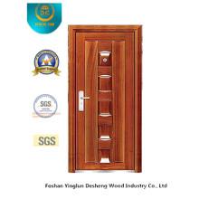 Porta de aço estilo tradicional para interior ou exterior (B-3017)