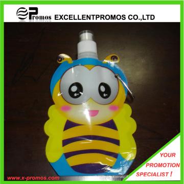 12 oz ou 350 ml Bouteille d'eau en plastique pliable en forme d'abeille (EP-B125511)