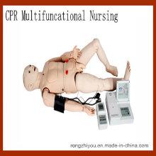 Hochwertige Multifunktions-CPR Medical Training Krankenpflege Manikin-Vital Signs Simulation