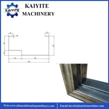 Rollo de marco de puerta de Windows de acero de seguridad formando máquina