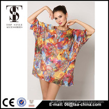 Flower printed fat women beachwear dresses woman sexy dress woman night dress                                                                                                         Supplier's Choice