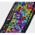 Bright colorful sequin beaded lace trims for wedding bridal dress