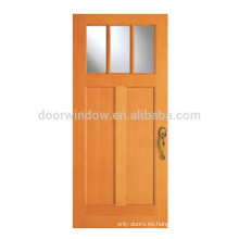 Columpio exterior individual de madera maciza Craftsman Puertas francés exterior sola puerta