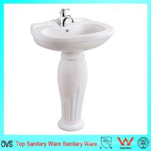 Banheiro Bacia de lavatório barato para pedestal