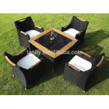 Foshan shunde furniture outdoor poly rattan set