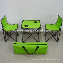 Portable space-saving children table and chair