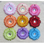 O mais novo 11cm Gérbera flor com diamante acrílico para cabelo ou acessórios de roupas