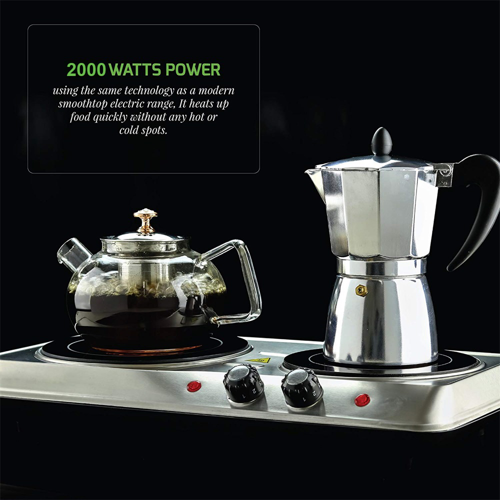 Double infrared ceramic cooker