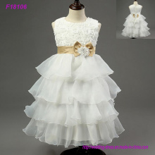 2017 New Lovely New Tulle Ruffled Handmade Flowers Flower Girls 'Dresses Girl's Pageant Vestidos