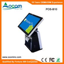 POS-B10 Android Touch pantalla doble todo en una PC POS máquina con impresora para supermercado