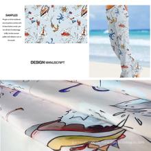 Cartoon-Design gedruckt Beachwear, Heim-und Haustextilien gebürstet Stoff