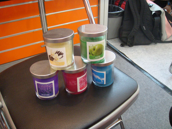 Glass Candles with different scent