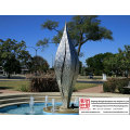 Customer Contemporary Stainless Steel Sculpture
